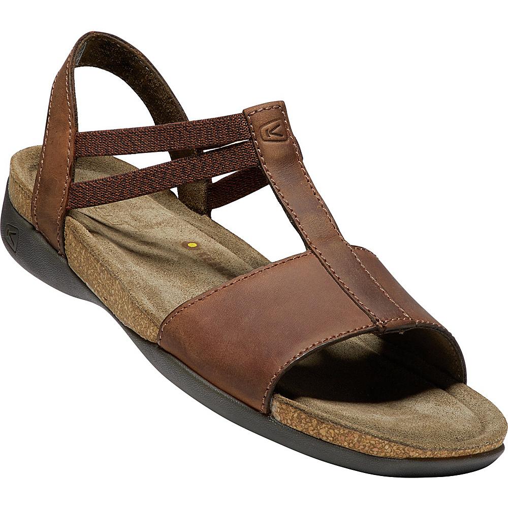 KEEN Womens Ana Cortez T Strap Sandal 9 - Brisk/Espresso - KEEN Womens Footwear - Apparel & Footwear, Women's Footwear