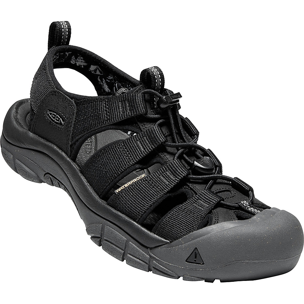 KEEN Mens Newport Eco Sandals 9.5 - Black/Magnet - KEEN Mens Footwear - Apparel & Footwear, Men's Footwear
