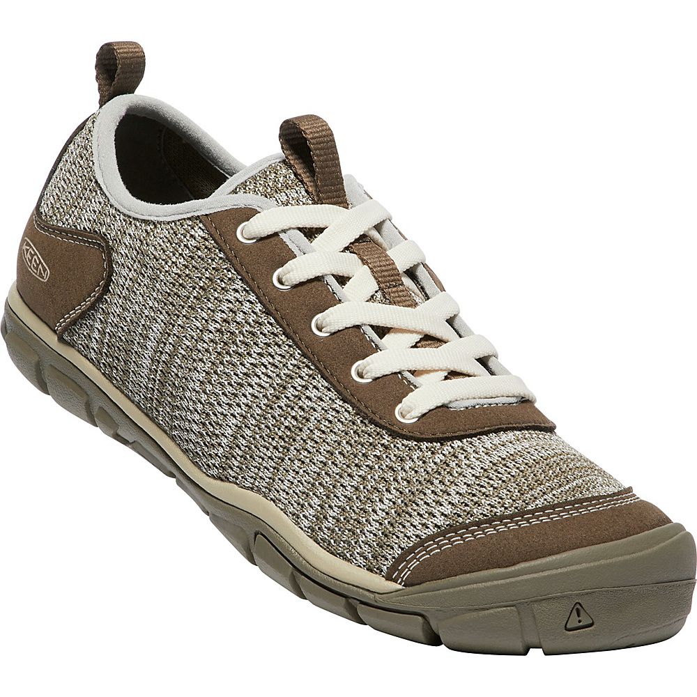 KEEN Womens Hush Knit CNX Shoes 10 - Brindle/Canteen - KEEN Womens Footwear - Apparel & Footwear, Women's Footwear