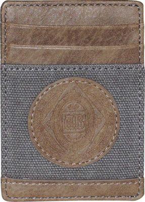 Budweiser Eagle Wings Front Pocket Get-Away Wallet Grey - Budweiser Men's Wallets