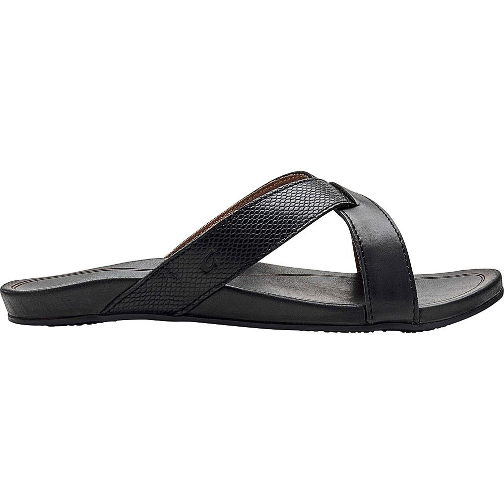 OluKai Womens Pahee Sandals 5 - Black/Black - OluKai Womens Footwear - Apparel & Footwear, Women's Footwear