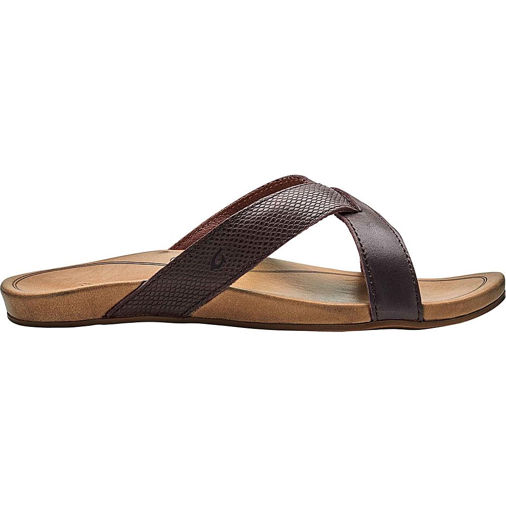 OluKai Womens Pahee Sandals 5 - Dark Java/Tan - OluKai Womens Footwear - Apparel & Footwear, Women's Footwear