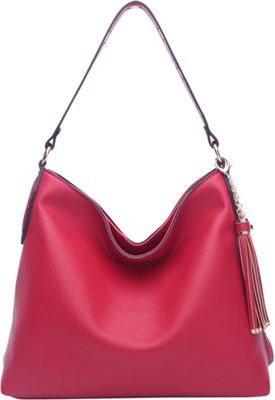 STYLE STRATEGY Sandra Convertible Shoulder Bag Red - STYLE STRATEGY Manmade Handbags