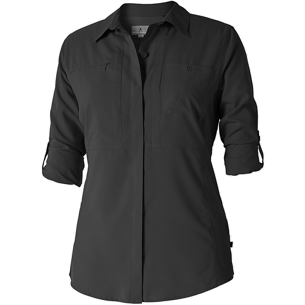 Royal Robbins Womens Bug Barrier Expedition Long Sleeve S - Jet Black - Royal Robbins Womens Apparel - Apparel & Footwear, Women's Apparel