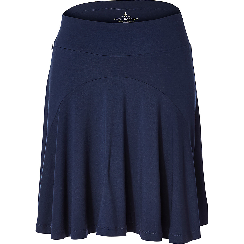 Royal Robbins Womens Essential Tencel Skirt S - Deep Blue - Royal Robbins Womens Apparel - Apparel & Footwear, Women's Apparel
