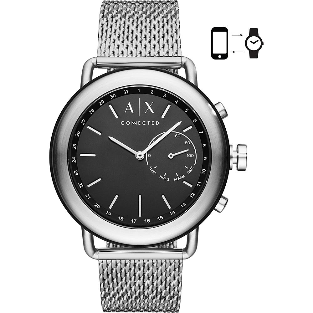 A/X Armani Exchange AIX Mens Hybrid Smartwatch Silver - A/X Armani Exchange Wearable Technology