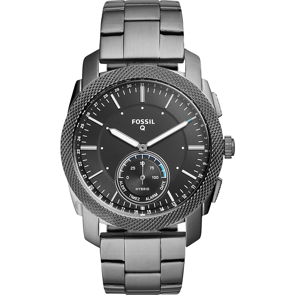 Fossil Q Machine Smoke Stainless Steel Hybrid Smartwatch Grey - Fossil Wearable Technology