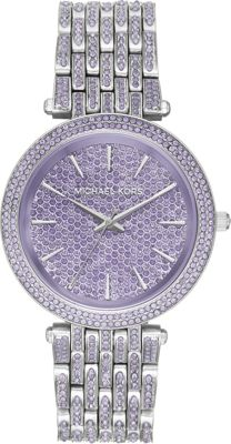 Michael Kors Watches Womens Darci Stainless-Steel and Lav...