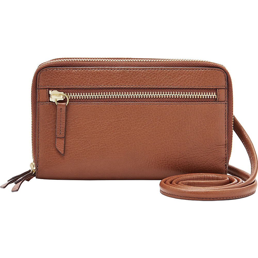 Fossil Raven Wallet Crossbody Brown - Fossil Womens Wallets - Women's SLG, Women's Wallets