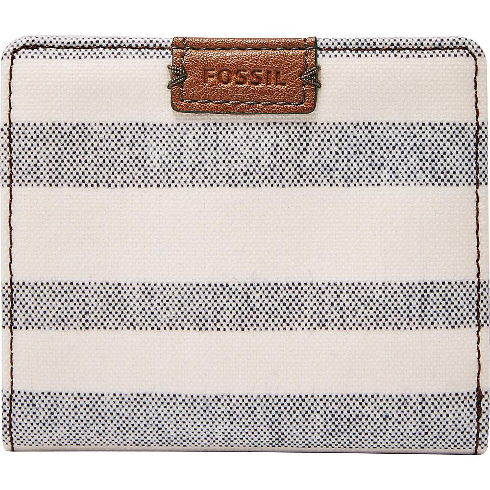 Fossil Emma RFID Mini Wallet Blue Stripe - Fossil Womens Wallets - Women's SLG, Women's Wallets