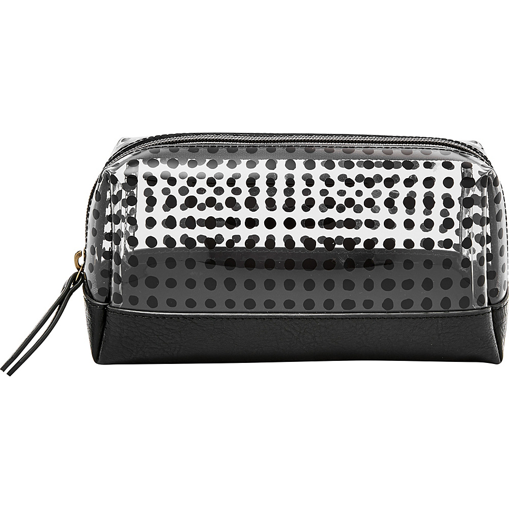 Fossil Bailey Small Cosmetic Case White w/ Black - Fossil Womens SLG Other - Women's SLG, Women's SLG Other