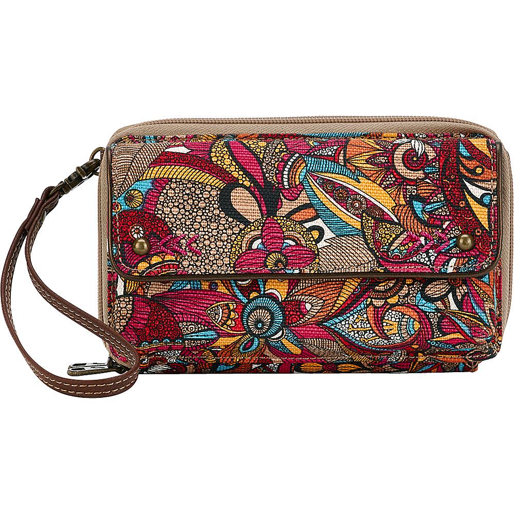 Sakroots Luna Smartphone Crossbody Berry Spirit Desert - Sakroots Fabric Handbags - Handbags, Fabric Handbags