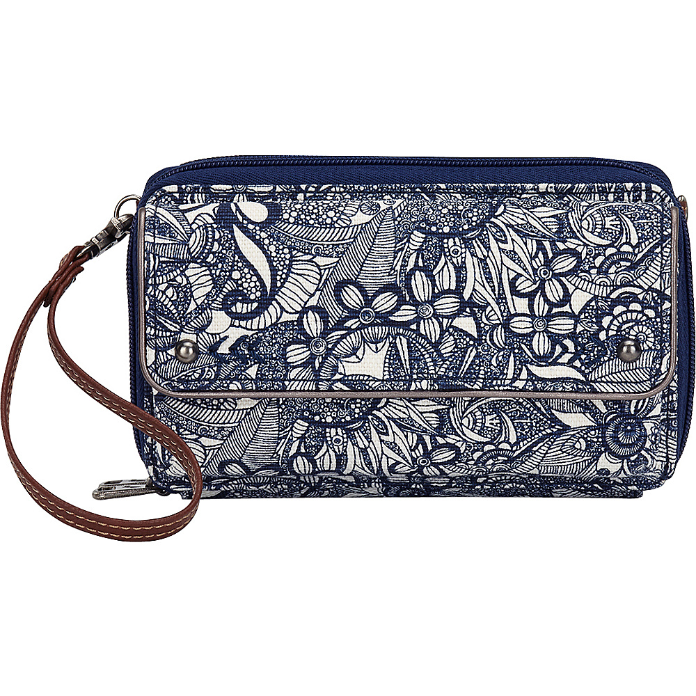 Sakroots Luna Smartphone Crossbody Navy Spirit Desert - Sakroots Fabric Handbags - Handbags, Fabric Handbags