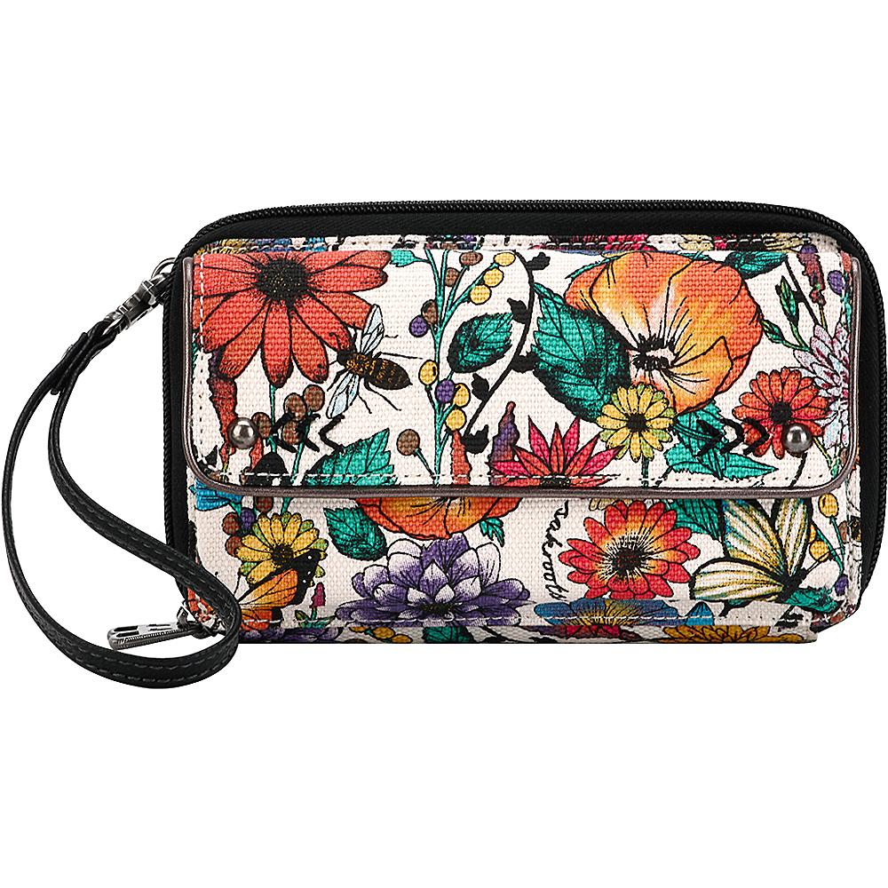 Sakroots Luna Smartphone Crossbody Optic In Bloom - Sakroots Fabric Handbags - Handbags, Fabric Handbags