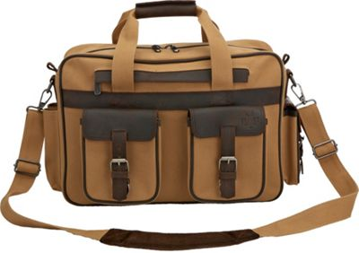 Flight Outfitters Bush Pilot Portfolio Brief Tan/Brown/Orange - Flight Outfitters Non-Wheeled Business Cases