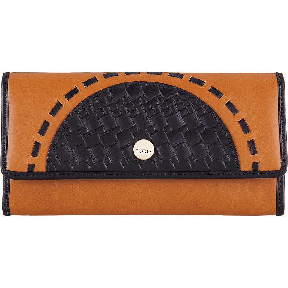 Lodis Rodeo Woven RFID Luna Clutch Wallet Black - Lodis Womens Wallets - Women's SLG, Women's Wallets