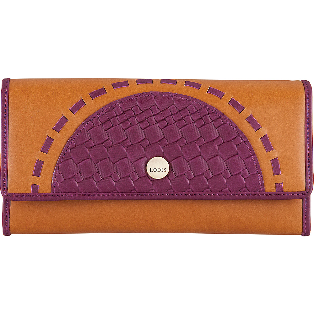 Lodis Rodeo Woven RFID Luna Clutch Wallet Purple - Lodis Womens Wallets - Women's SLG, Women's Wallets