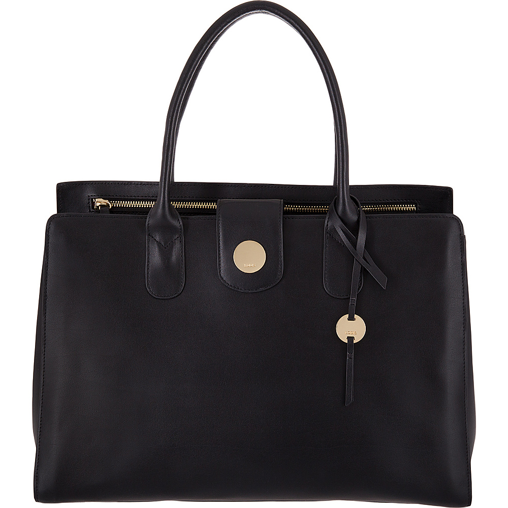 Lodis Rodeo RFID Ally Work Tote Black - Lodis Leather Handbags - Handbags, Leather Handbags