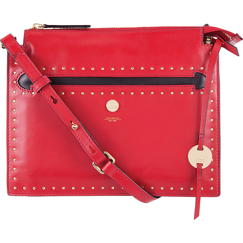 Lodis Pismo Stud RFID Kay Accordion Crossbody Red - Lodis Leather Handbags - Handbags, Leather Handbags