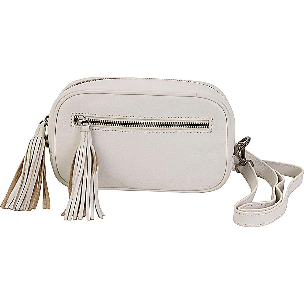 Hadaki Xbody Fanny Pack Ivory - Hadaki Leather Handbags - Handbags, Leather Handbags
