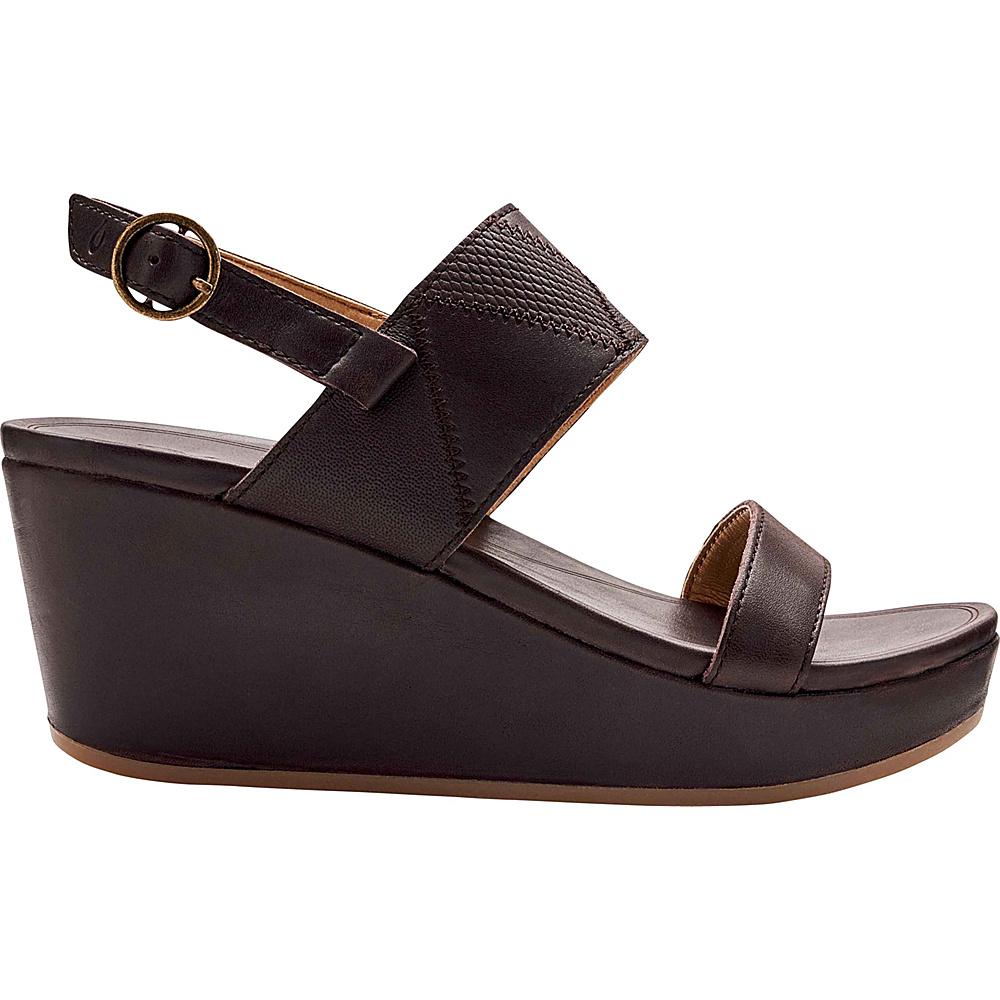 OluKai Womens Keha Sandal 7 - Dark Java/Dark Java - OluKai Womens Footwear - Apparel & Footwear, Women's Footwear