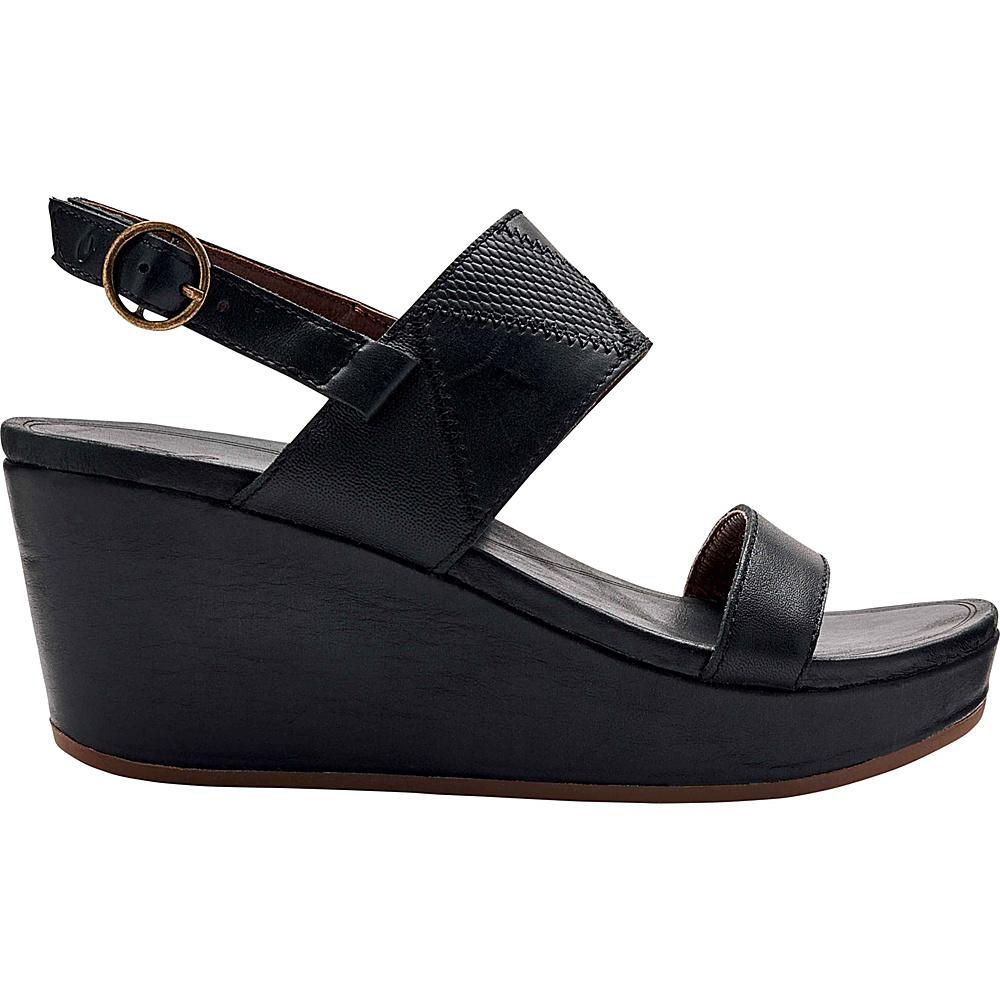 OluKai Womens Keha Sandal 6 - Black/Black - OluKai Womens Footwear - Apparel & Footwear, Women's Footwear