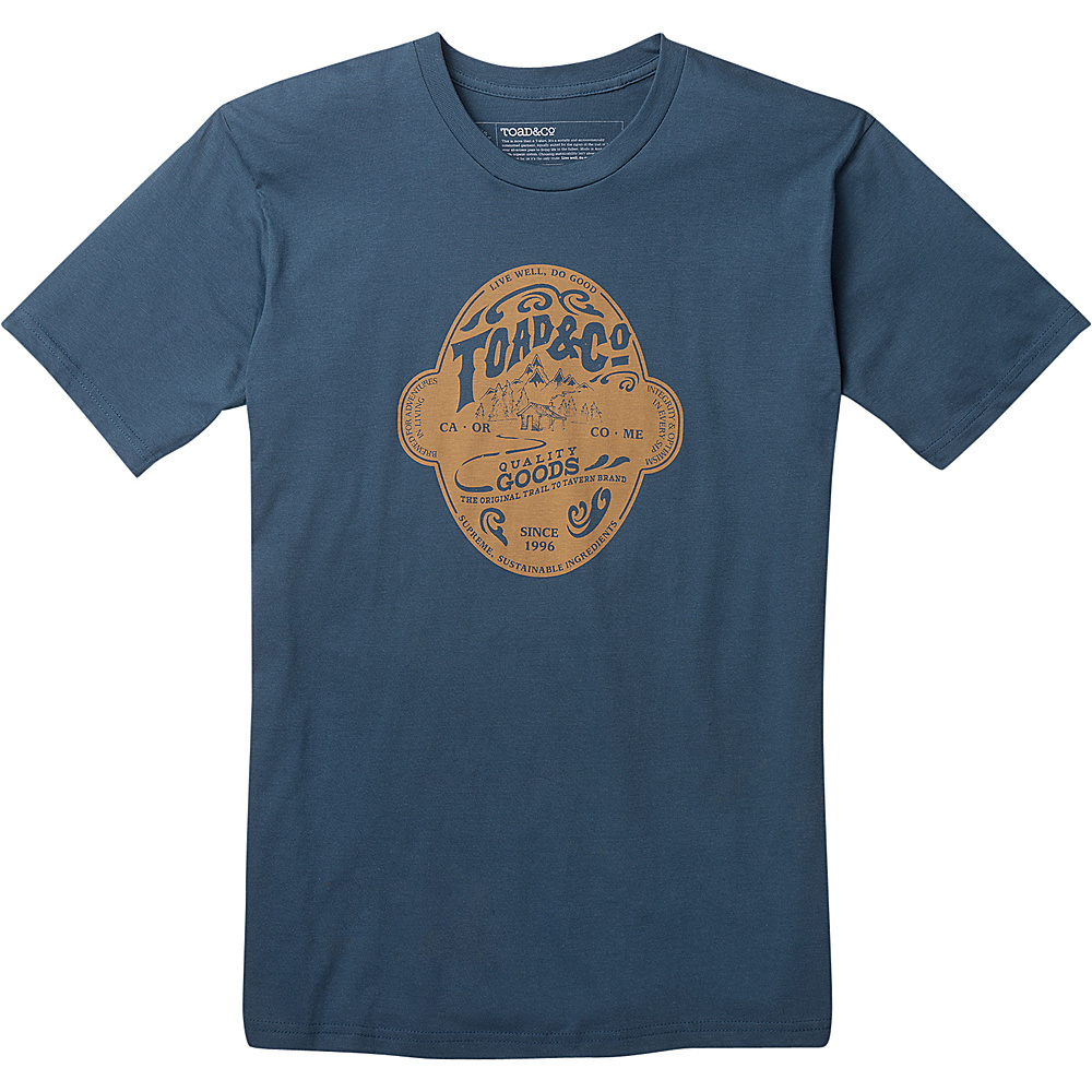 Toad & Co Mens Brewed For Adventure Graphic Tee M - Moody Blue - Toad & Co Mens Apparel - Apparel & Footwear, Men's Apparel
