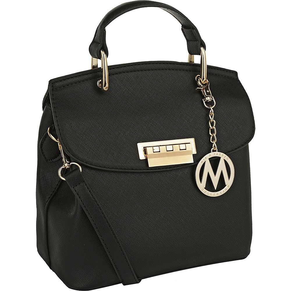 MKF Collection by Mia K. Farrow Liz Small Satchel Black - MKF Collection by Mia K. Farrow Manmade Handbags - Handbags, Manmade Handbags
