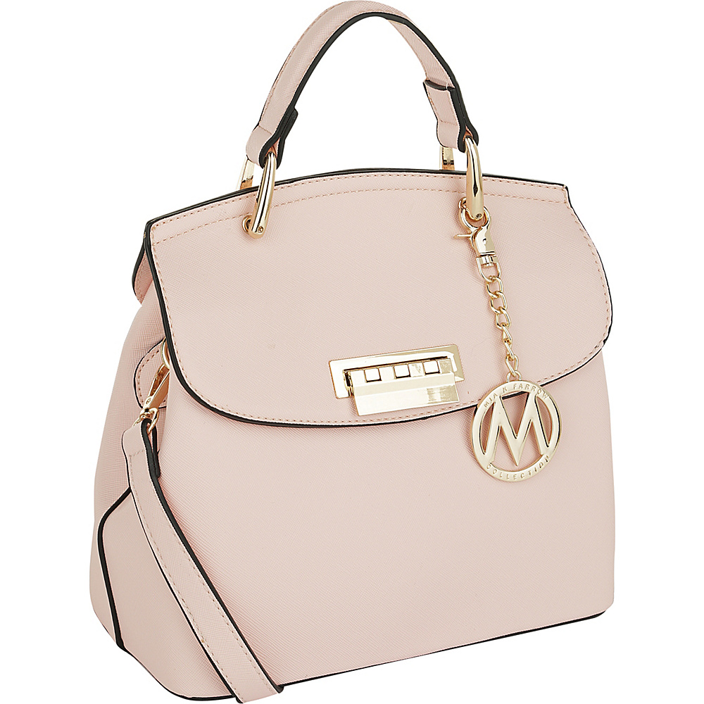 MKF Collection by Mia K. Farrow Liz Small Satchel Light Pink - MKF Collection by Mia K. Farrow Manmade Handbags - Handbags, Manmade Handbags