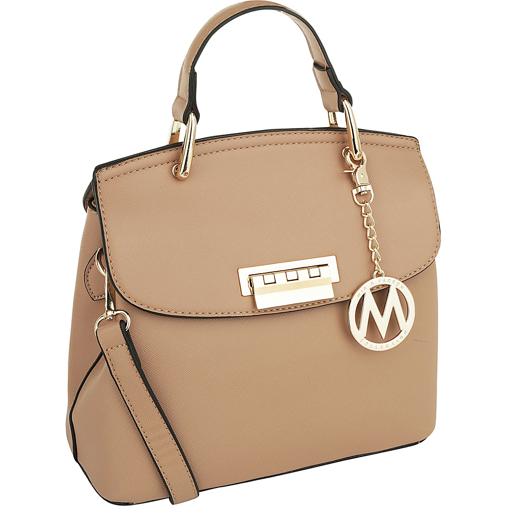 MKF Collection by Mia K. Farrow Liz Small Satchel Taupe - MKF Collection by Mia K. Farrow Manmade Handbags - Handbags, Manmade Handbags