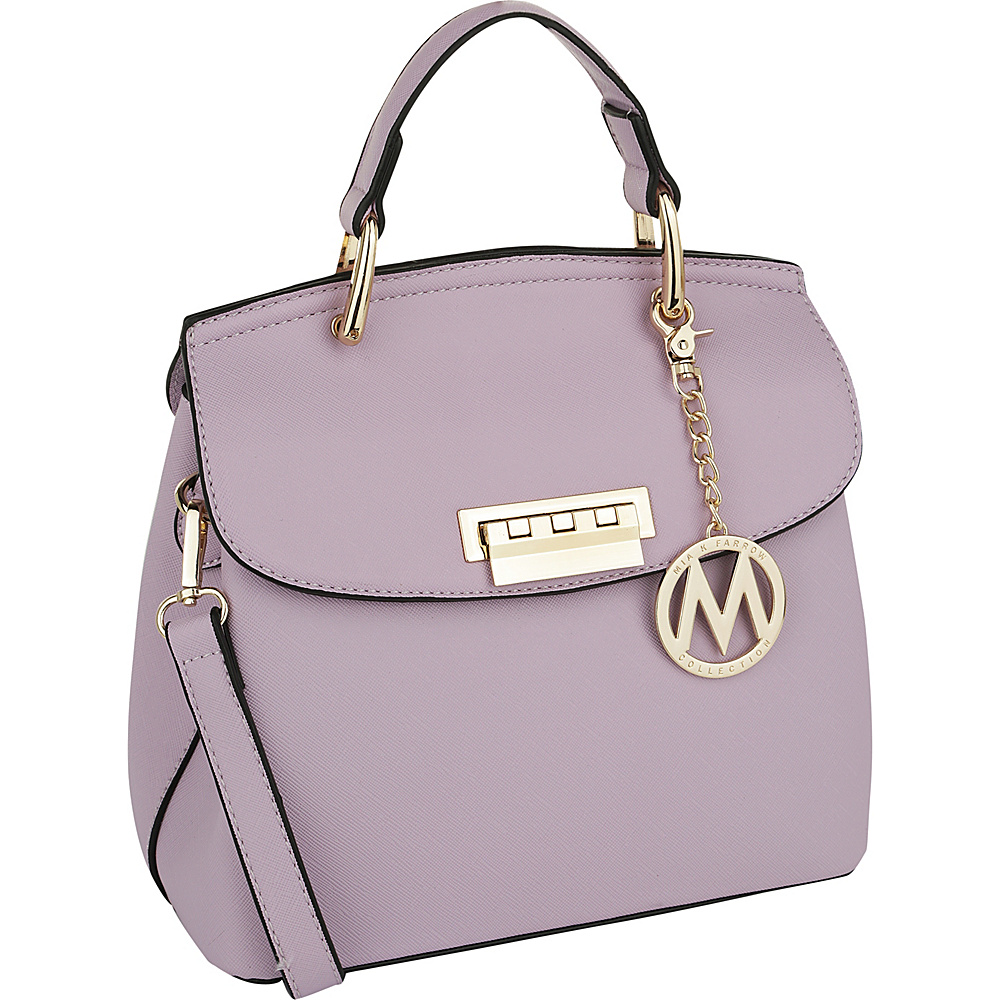 MKF Collection by Mia K. Farrow Liz Small Satchel Purple - MKF Collection by Mia K. Farrow Manmade Handbags - Handbags, Manmade Handbags