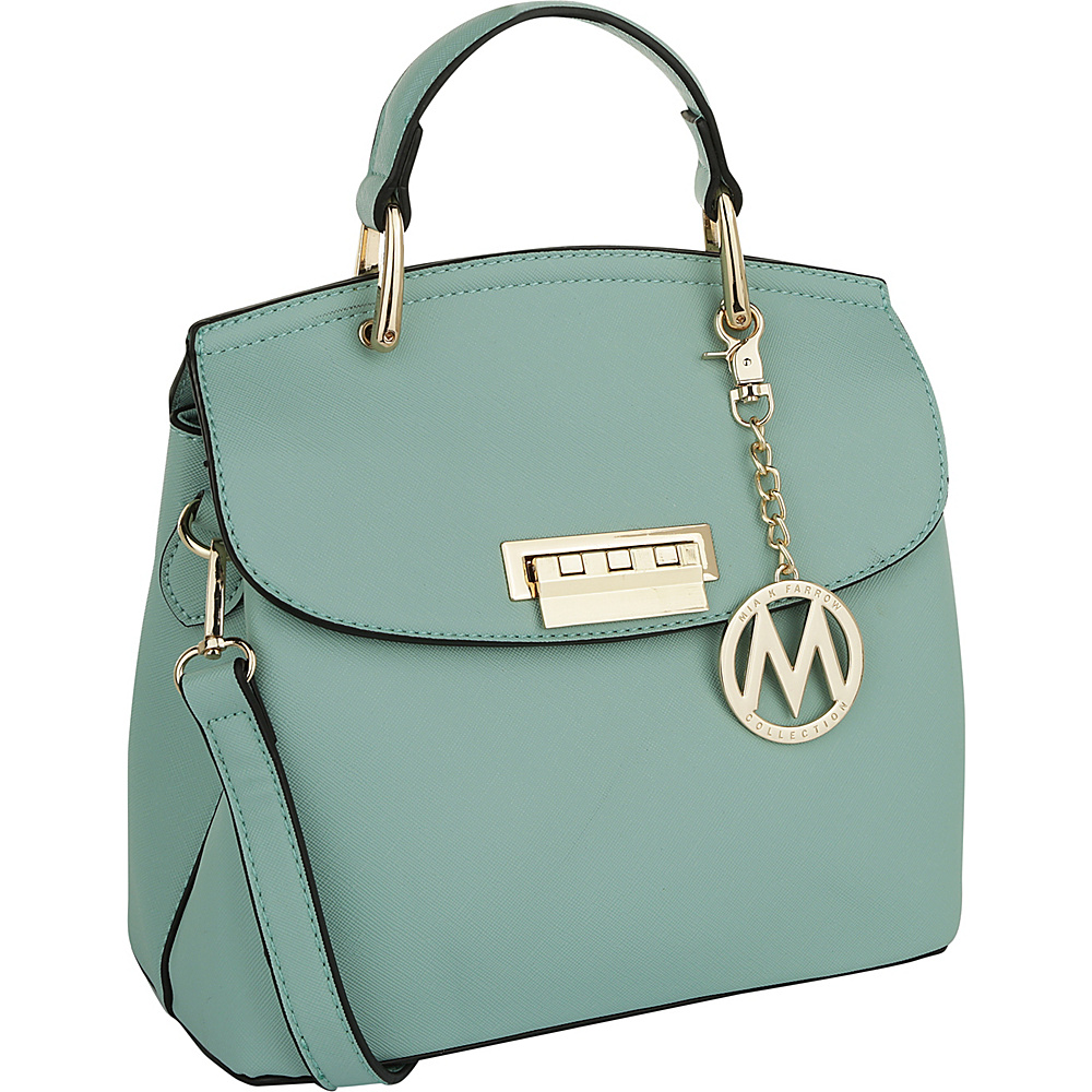MKF Collection by Mia K. Farrow Liz Small Satchel Mint - MKF Collection by Mia K. Farrow Manmade Handbags - Handbags, Manmade Handbags