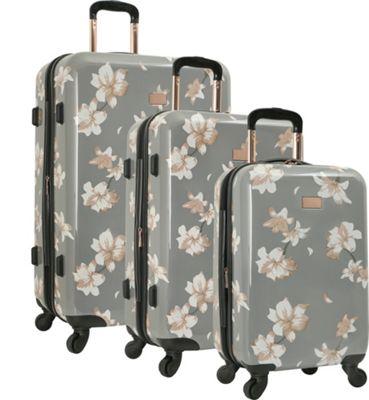 Vince Camuto Luggage Corinn 3 Piece Expandable Hardside Spinner Luggage Set Grey - Vince Camuto Luggage Luggage Sets
