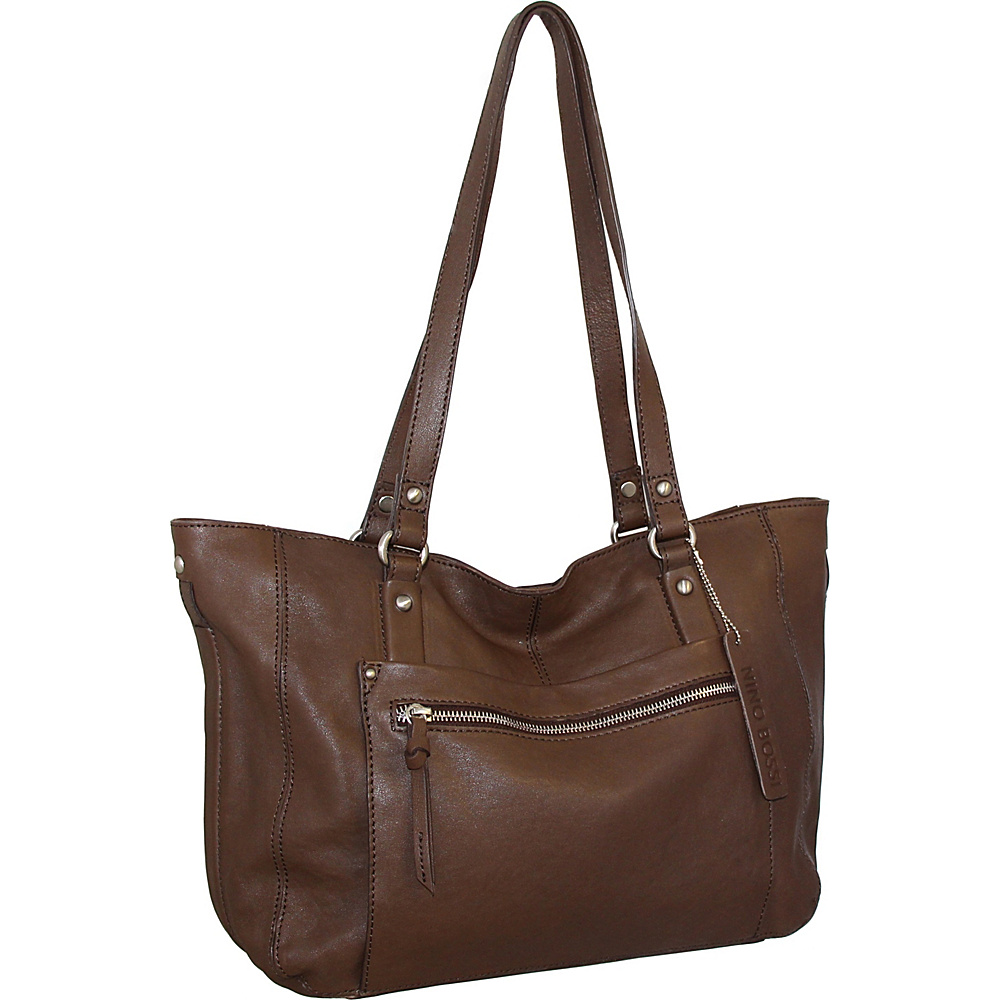 Nino Bossi Mya Tote Brown - Nino Bossi Leather Handbags - Handbags, Leather Handbags