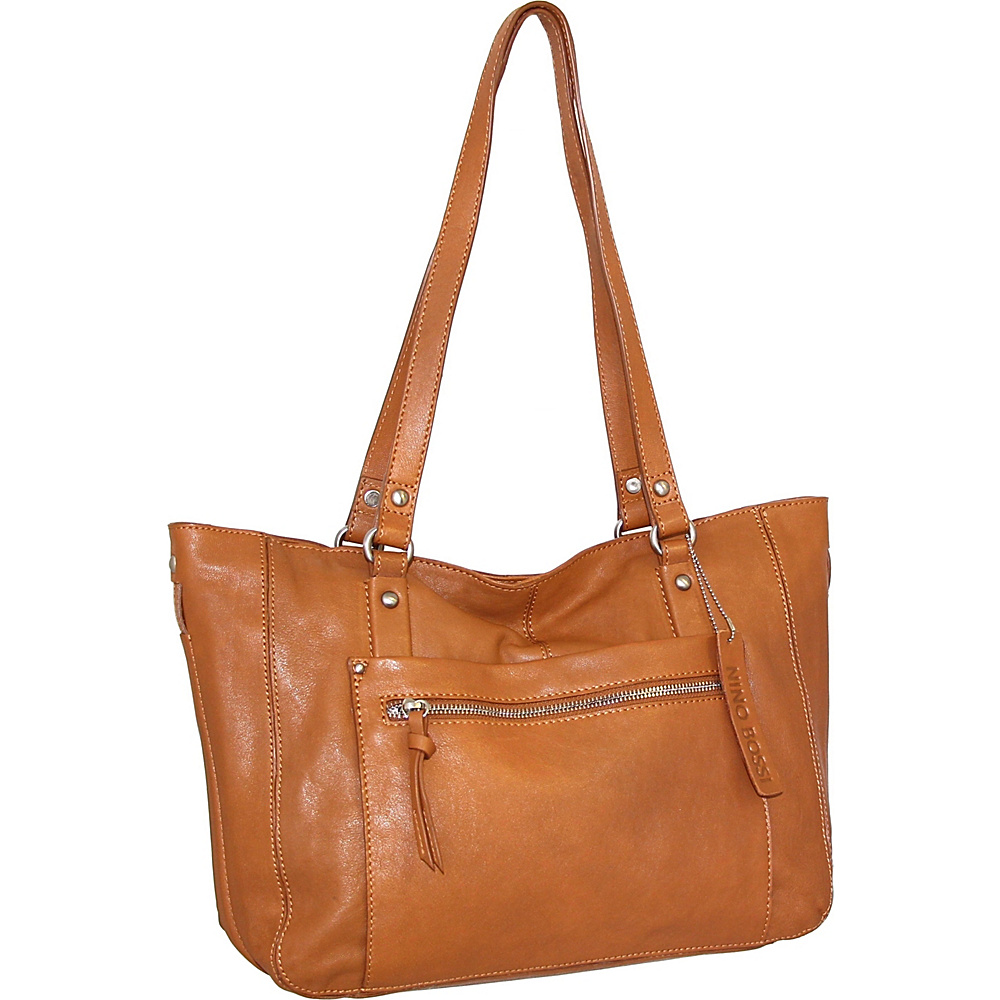 Nino Bossi Mya Tote Cognac - Nino Bossi Leather Handbags - Handbags, Leather Handbags