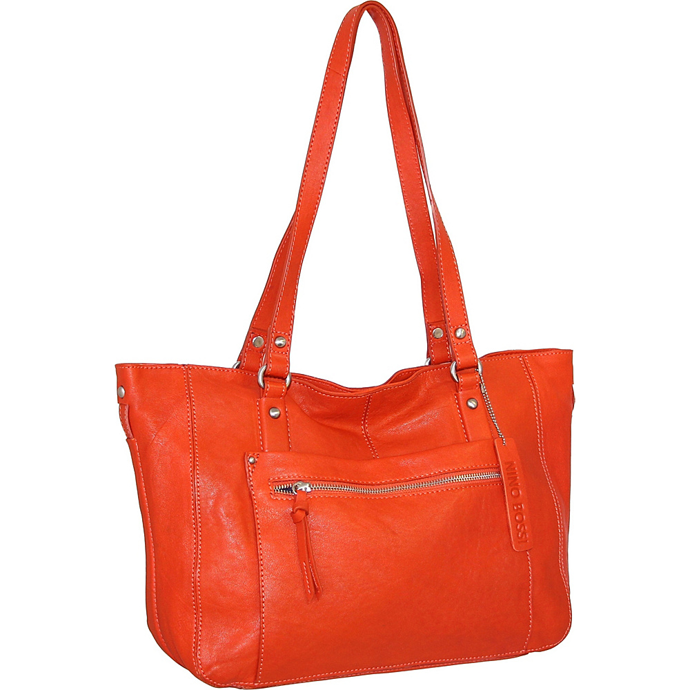 Nino Bossi Mya Tote Tangerine - Nino Bossi Leather Handbags - Handbags, Leather Handbags