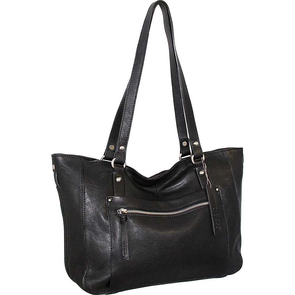 Nino Bossi Mya Tote Black - Nino Bossi Leather Handbags - Handbags, Leather Handbags