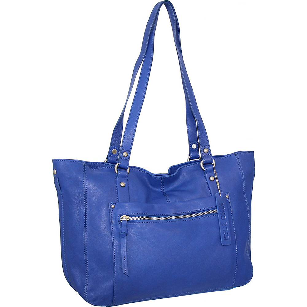 Nino Bossi Mya Tote Cobalt - Nino Bossi Leather Handbags - Handbags, Leather Handbags