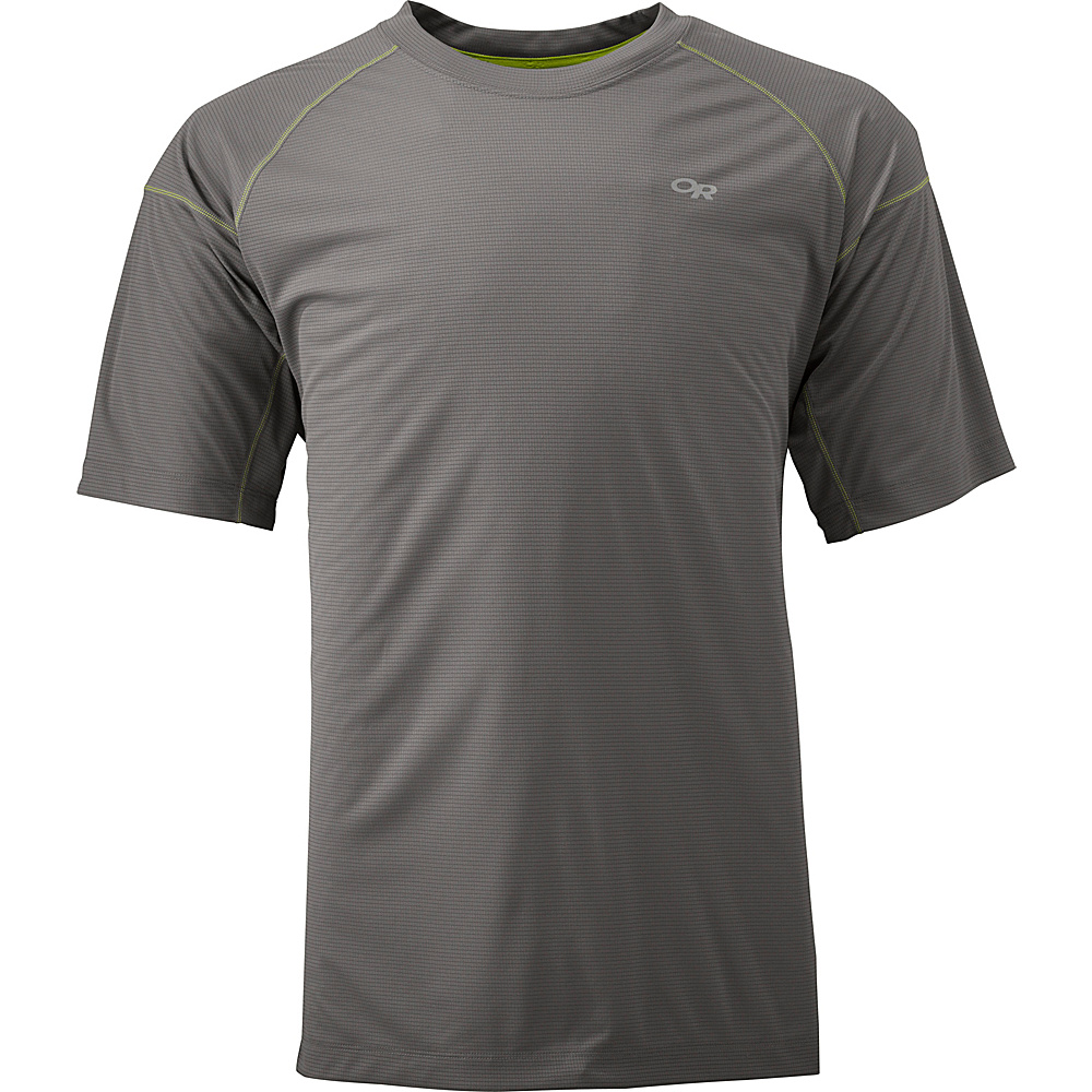 Outdoor Research Echo Tee XS - Pewter/Lemongrass - Outdoor Research Mens Apparel - Apparel & Footwear, Men's Apparel