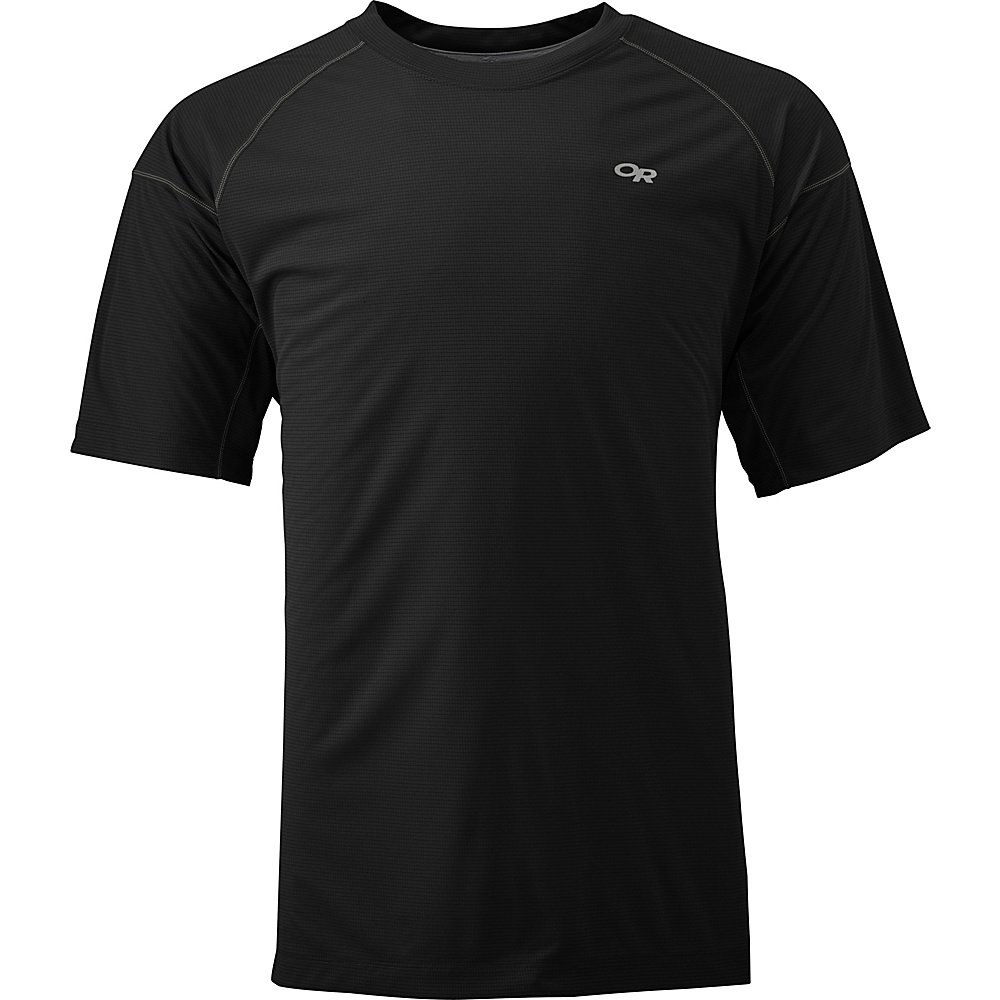 Outdoor Research Echo Tee XL - Black/Charcoal - Outdoor Research Mens Apparel - Apparel & Footwear, Men's Apparel