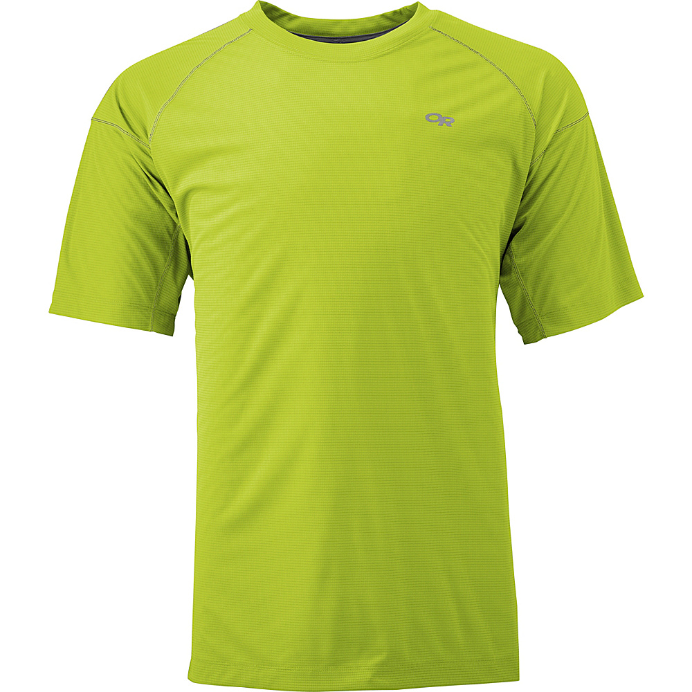Outdoor Research Echo Tee XS - Lemongrass/Pewter - Outdoor Research Mens Apparel - Apparel & Footwear, Men's Apparel