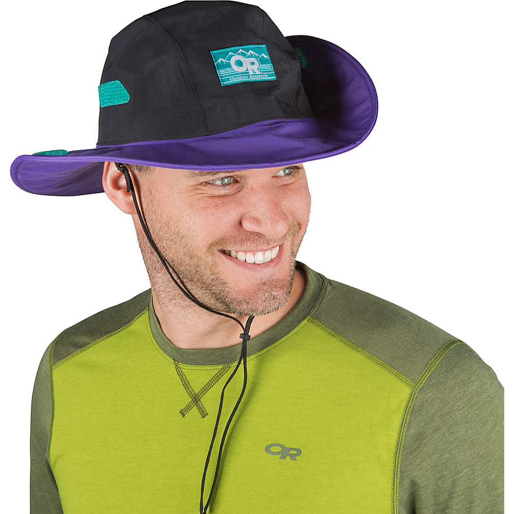 Outdoor Research Retro Seattle Sombrero L - Black/Purple Rain - Outdoor Research Hats/Gloves/Scarves - Fashion Accessories, Hats/Gloves/Scarves
