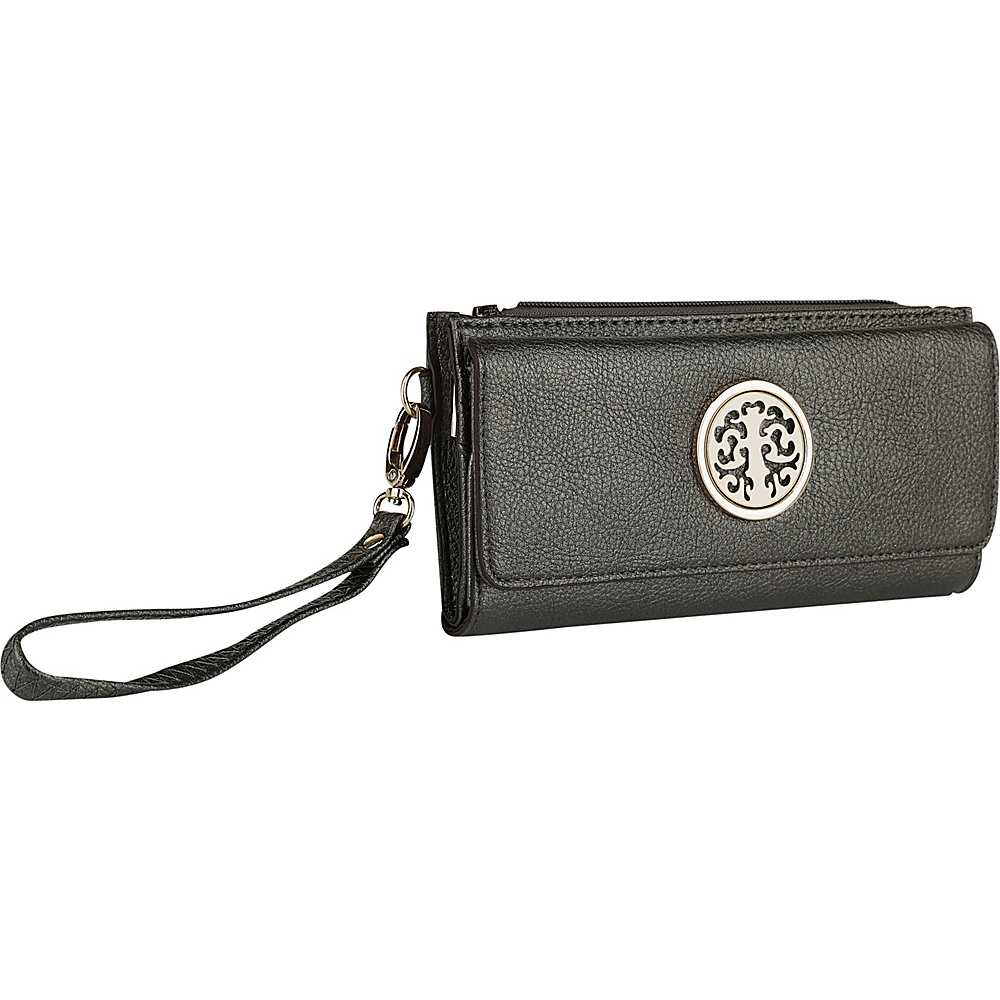 MKF Collection by Mia K. Farrow Audrina Tri-Fold Wristlet Pewter - MKF Collection by Mia K. Farrow Womens Wallets - Women's SLG, Women's Wallets