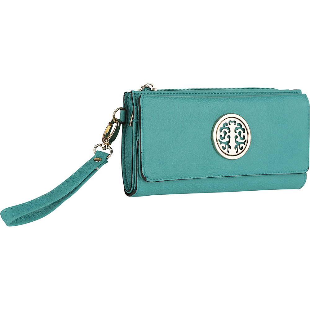 MKF Collection by Mia K. Farrow Audrina Tri-Fold Wristlet Turquoise - MKF Collection by Mia K. Farrow Womens Wallets - Women's SLG, Women's Wallets