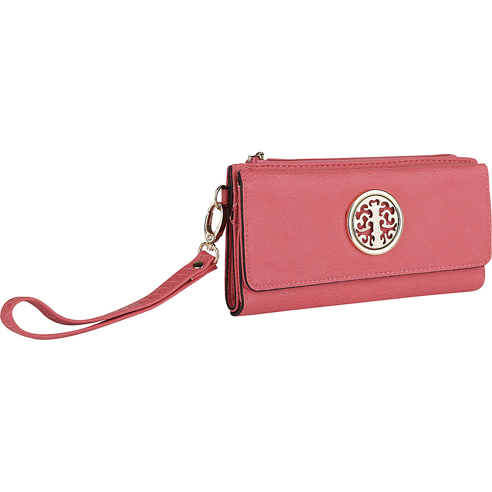 MKF Collection by Mia K. Farrow Audrina Tri-Fold Wristlet Pink - MKF Collection by Mia K. Farrow Womens Wallets - Women's SLG, Women's Wallets
