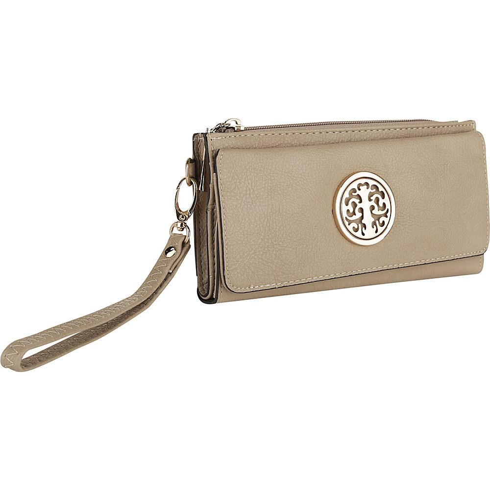 MKF Collection by Mia K. Farrow Audrina Tri-Fold Wristlet Beige - MKF Collection by Mia K. Farrow Womens Wallets - Women's SLG, Women's Wallets