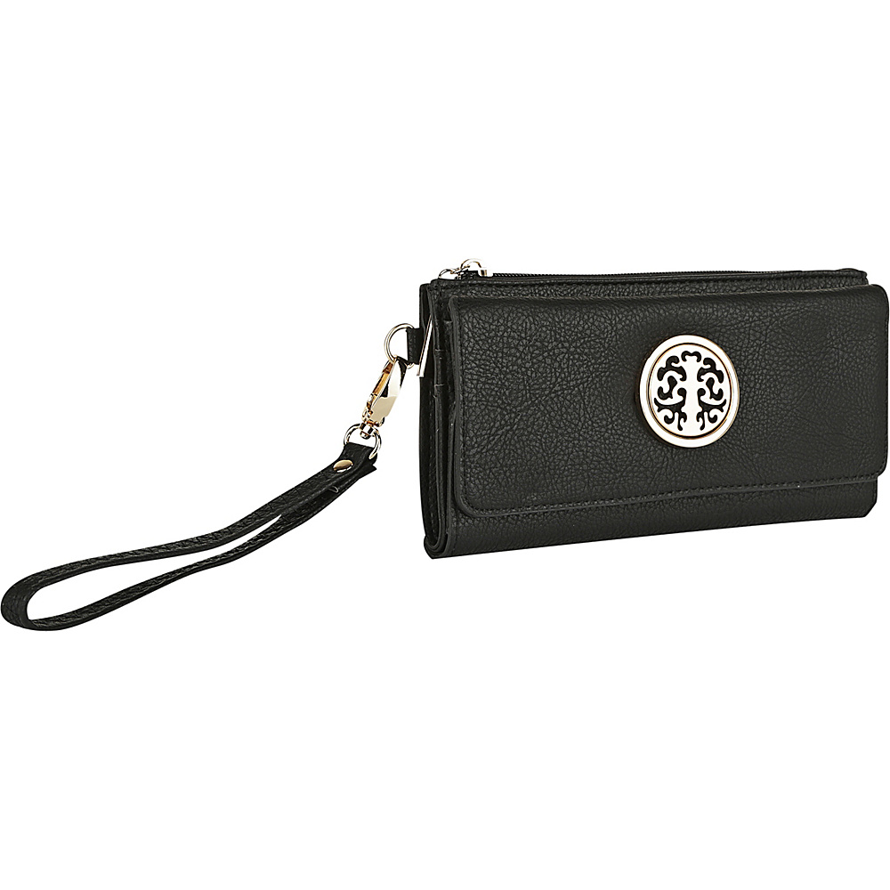 MKF Collection by Mia K. Farrow Audrina Tri-Fold Wristlet Black - MKF Collection by Mia K. Farrow Womens Wallets - Women's SLG, Women's Wallets