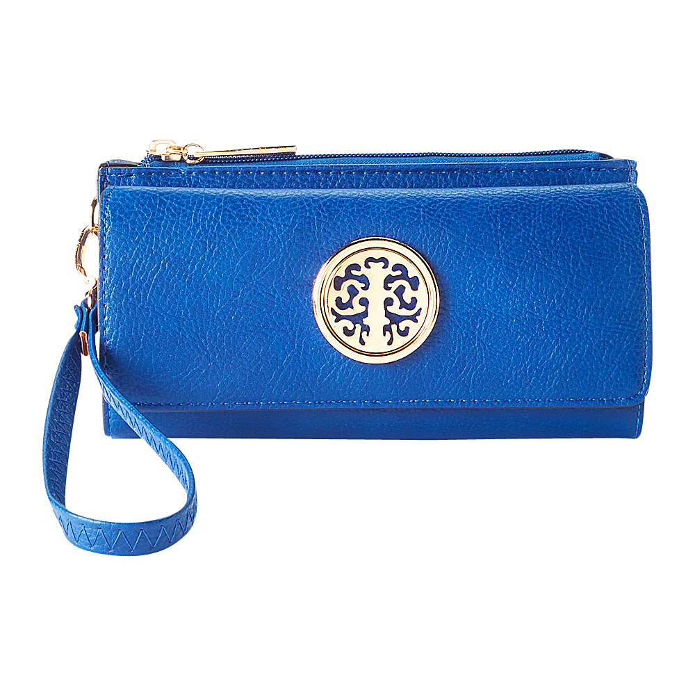 MKF Collection by Mia K. Farrow Audrina Tri-Fold Wristlet Blue - MKF Collection by Mia K. Farrow Womens Wallets - Women's SLG, Women's Wallets