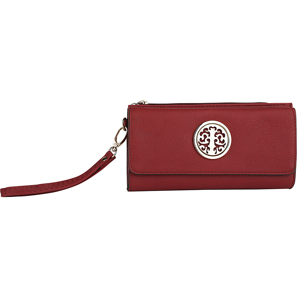MKF Collection by Mia K. Farrow Audrina Tri-Fold Wristlet Red - MKF Collection by Mia K. Farrow Womens Wallets - Women's SLG, Women's Wallets