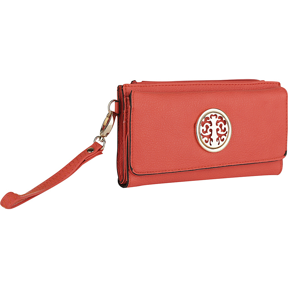 MKF Collection by Mia K. Farrow Audrina Tri-Fold Wristlet Orange - MKF Collection by Mia K. Farrow Womens Wallets - Women's SLG, Women's Wallets